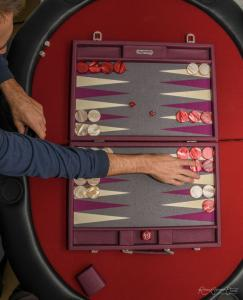 Photo personne en train de jouer au backgammon