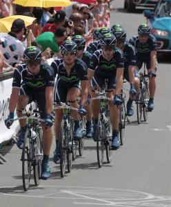 Photo equipe Movistar Tour de France 2011
