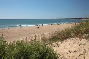 Photo plage du rocher longeville vue des dunes