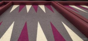 Photo tapis de backgammon