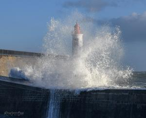 Photo tempete la chaume les sables d olonne