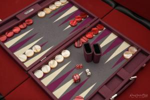Photo du boite de jeu de backgammon