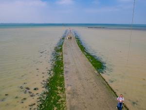 Photo kap cerf-volant du passage du gois en Vendée