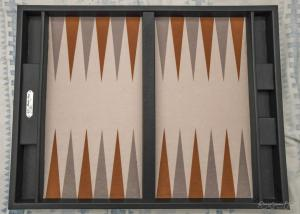 Photo du tapis de backgammon