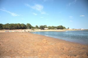 Photo plage de sable du veillon