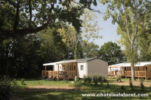 Photo camping vendée avec mobil-homes et chalets