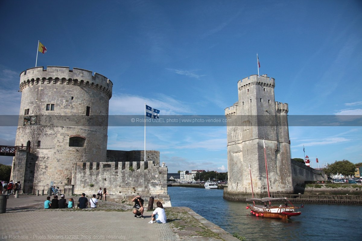 Photo des tours de la rochelle