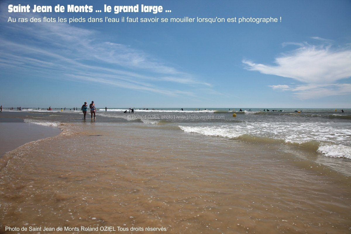 Photo bord de mer vague saint jean de monts