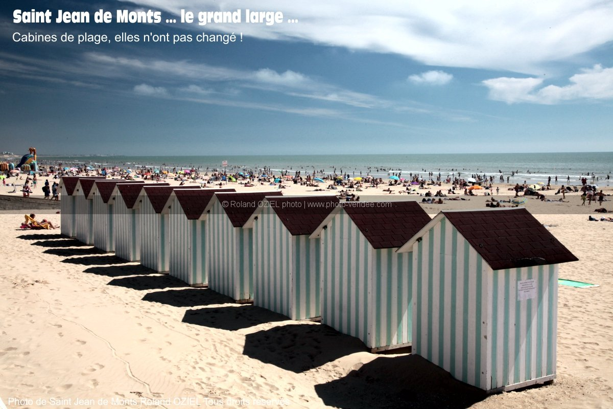 Photo cabines de plage saint jean de mons