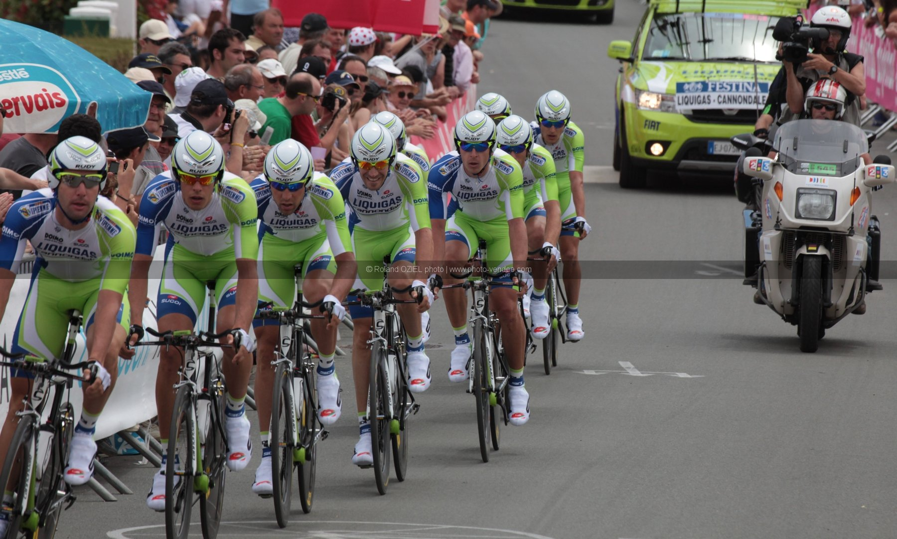 Photo equipe Liquigas Tour de France 2011