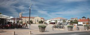 Photo place centrale de la tranche sur mer