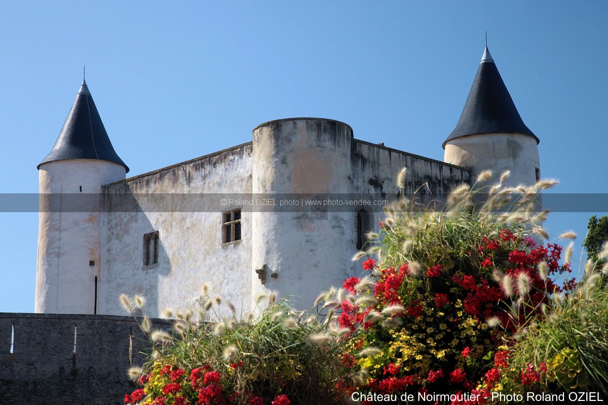Photo fleurie chateau de noirmoutier