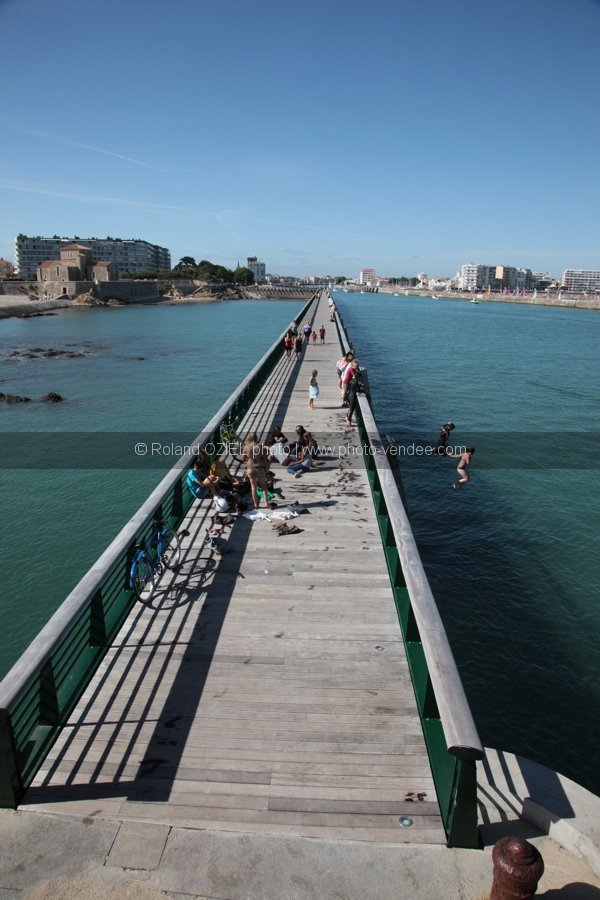 Photo estacade ponton les Sables d'Olonne
