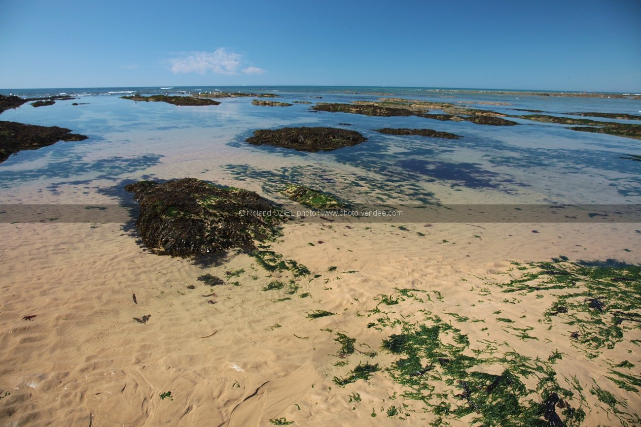 Photo plage maree basse sauveterre les sables